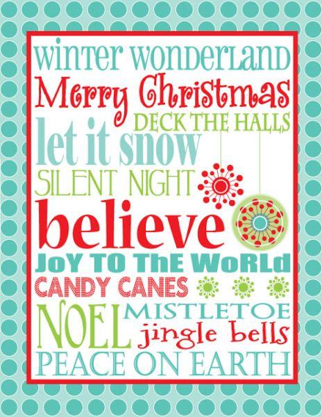 20 FREE Christmas Printables | Three Loud Kids!