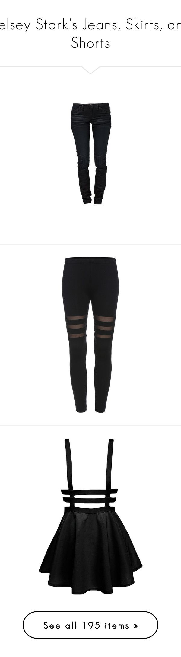 """""""Kelsey Stark's Jeans, Skirts, and Shorts"""" by nerdbucket ❤ liked on Polyvore featuring jeans, pants, g-star raw, g star raw jeans, cartoon jeans, slim fit jeans, comic book, leggings, bottoms and black"""