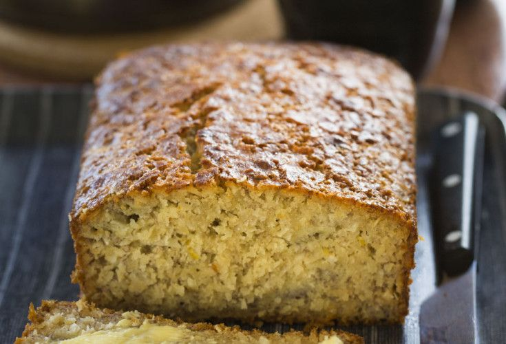 Lemon, Coconut, Honey and Banana Loaf. Nut free, soy free, dairy free option, gluten free option, wheat free option, refined sugar free (uses honey).