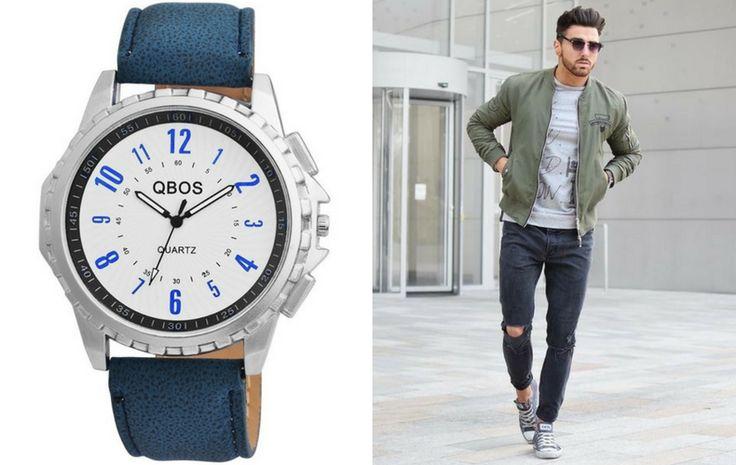 Fiatalos kék óra divatos férfiaknak