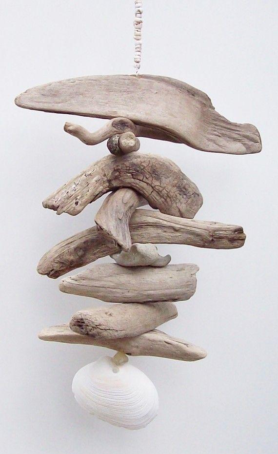 Driftwood mobile - Nautical Decor - Beautiful driftwood Art Mobile