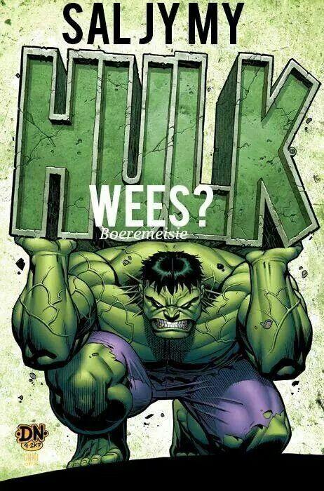 Sal jy my Hulk wees