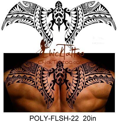 ChickTattoo .. Polinezya Flaş Dövme Tasarımları