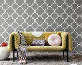 Quatrefoil Pattern Self Adhesive Temporary Wallpaper D041