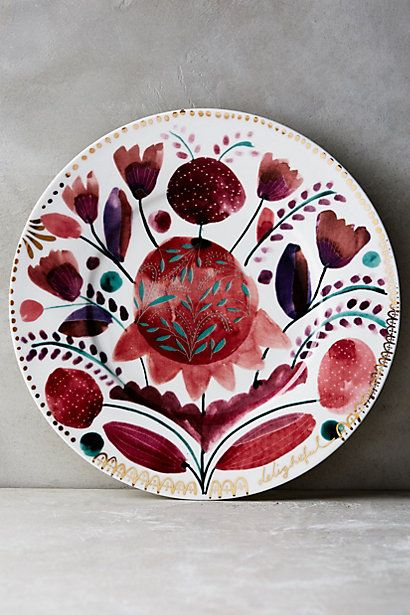 Harvest Foliage Side Plate #anthropologie