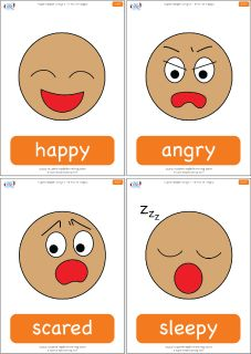 "Emotions flashcards for the Super Simple Learning song ""If You're Happy."" #preK #Kindergarten #ESL"