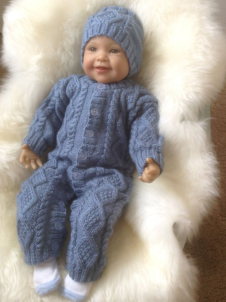 A personal favourite from my Etsy shop https://www.etsy.com/uk/listing/246796313/irish-knit-snowsuit-in-blue-with