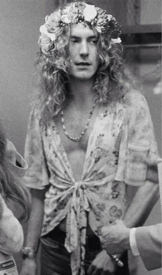 Robert Plant rocking that flower crown better than any teenage girl could