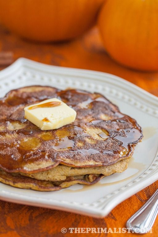 Pumpkin Spice Pancakes Gluten Free #ThePrimalist