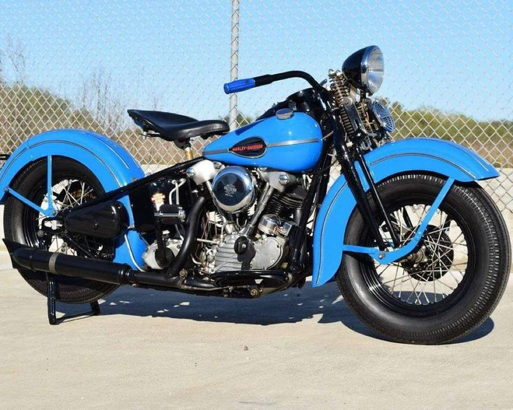 A flawless example of a  Harley knucklehead bobber.