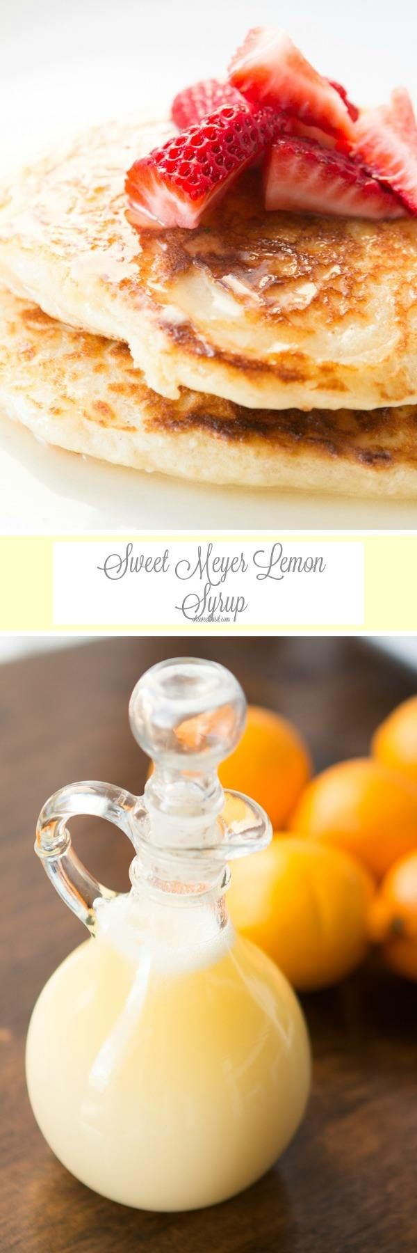 We were licking our plates after eating this meyer lemon syrup over pancakes! ohsweetbasil.com
