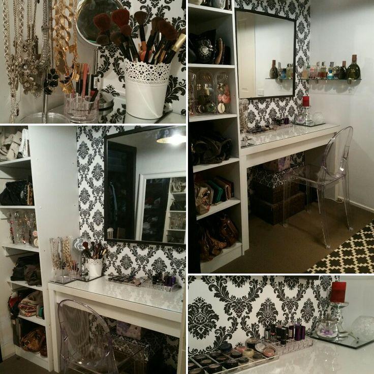 My makeup station inside my dressing room