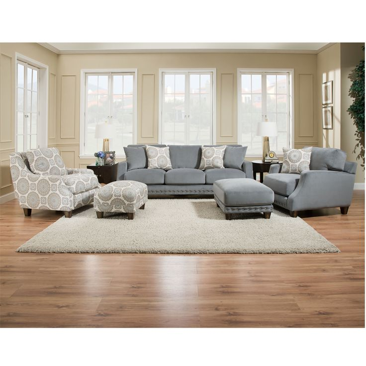 Franklin Furniture   Annalise 4 Piece Living Room Set In Seven Seas   SEAS