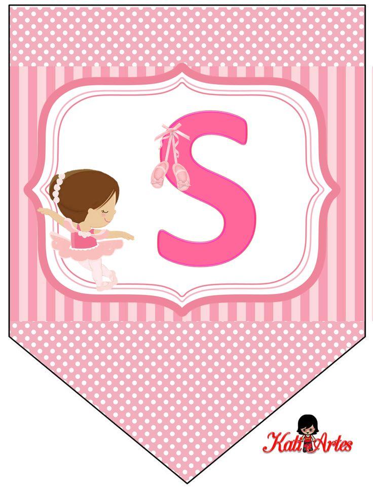 Oh my Alfabetos!: Banderines de Ballerina.