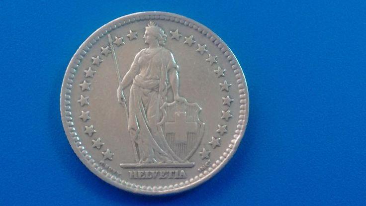 MONEDA DE PLATA . SUIZA 2 FRANCOS  DE PLATA  AÑO: 1944 . 0.835/1000