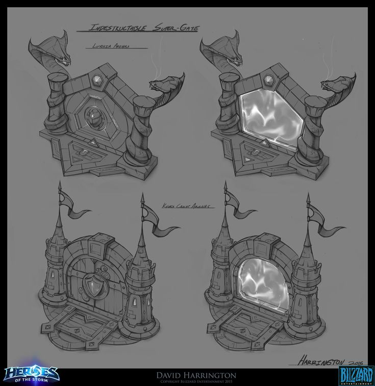 ArtStation - Heroes Of The Storm - Gate Concept Art, David Harrington