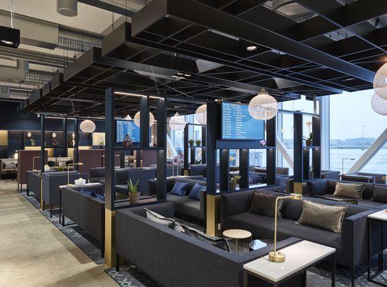 Business Lounge at Stavanger Airport Sola, designed by Metropolis  arkitektur & design.