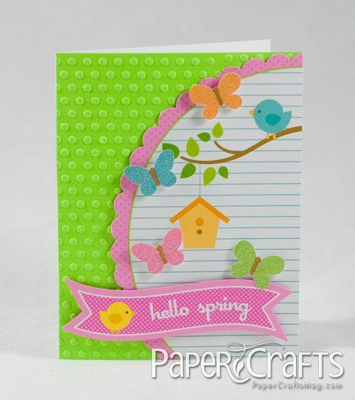 Hello Spring Card by Kim Kesti by Paper Crafts Photos, via Flickr