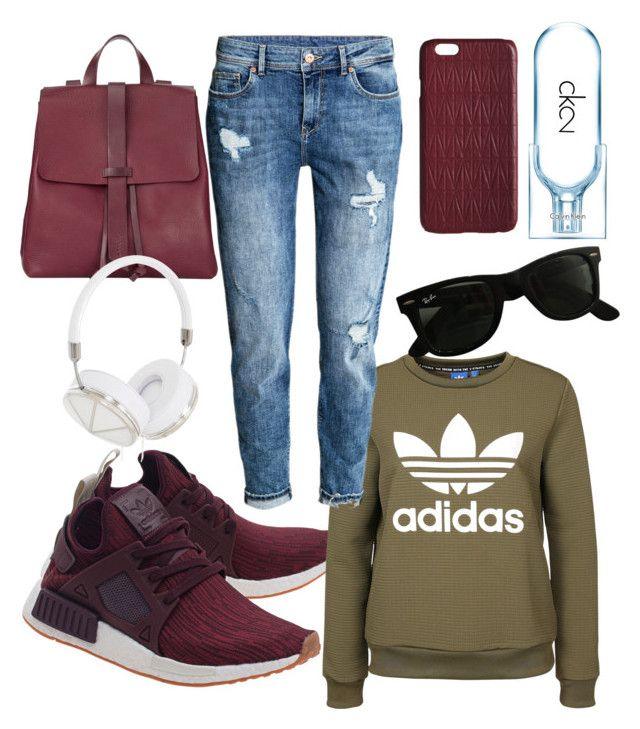 """Fall🍂"" by szlzsnb on Polyvore featuring adidas Originals, H&M, Ray-Ban, Jigsaw, Frends, Dagmar and Calvin Klein"
