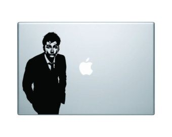 """David Tennant 10th Doctor- tv series- doctor who- 6"""" decal- doctor who decal- doctor who sticker"""