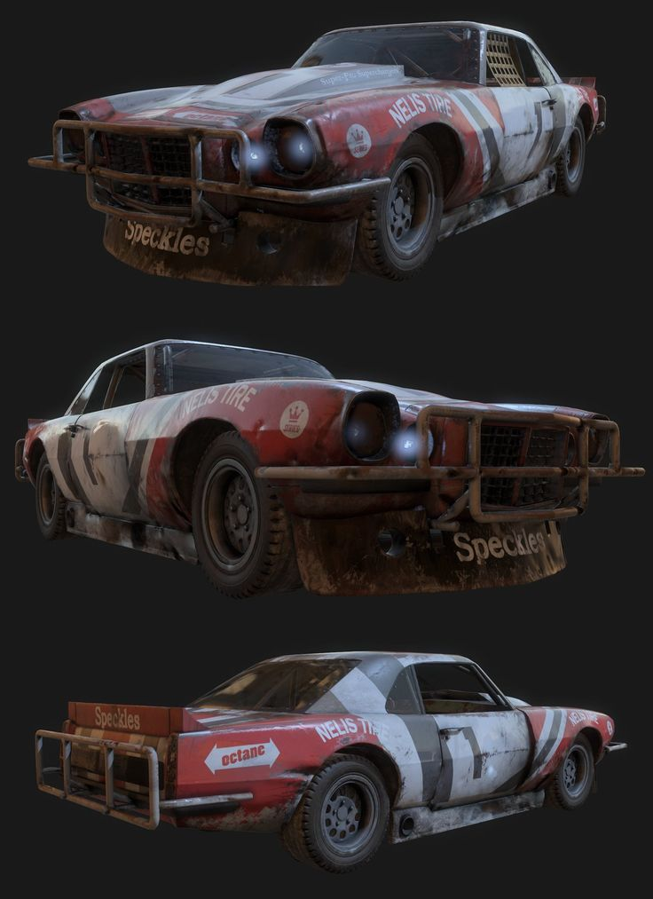 Blockout model by Kenneth Lammers, I remodeled the car, baked it down to a lowpoly mesh and used Substance Painter for the texturing.