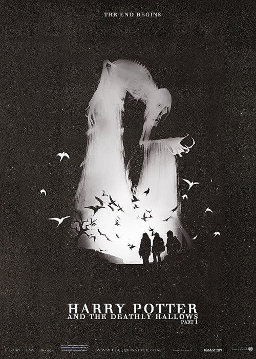 Harry Potter Poster. Feel like the illustration is well balanced and a great use of positive and negative space. But the Film title type treatment falls short.