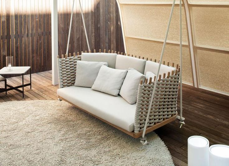 Hollywoodschaukel Aus Holz Mit Rankgitter Dach ~   wie früher, aber in modernem Design aus Holz, Rattan oder Edelstahl