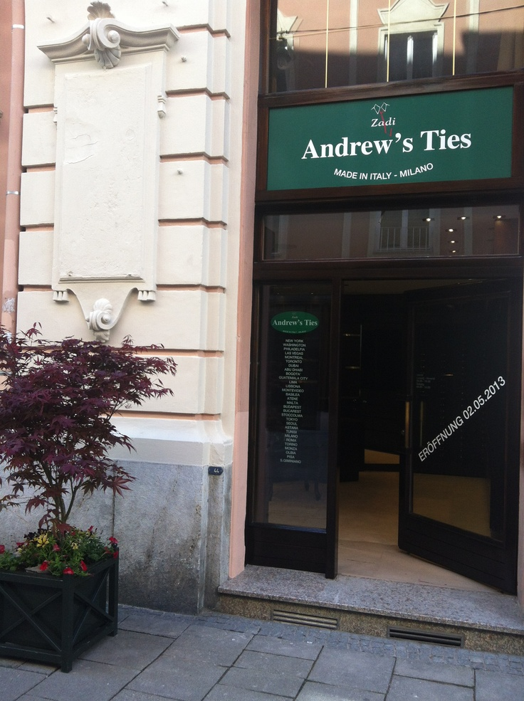 the main entrance of our store in Graz