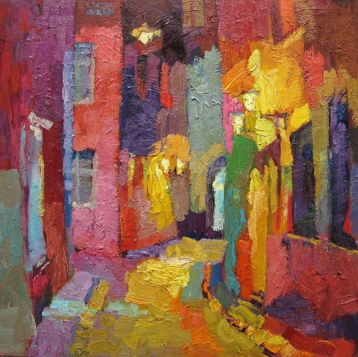 "Larisa Aukon at Mirada Fine Art, Sweet Dreams, Original Oil on Panel, 18"" x 18"""