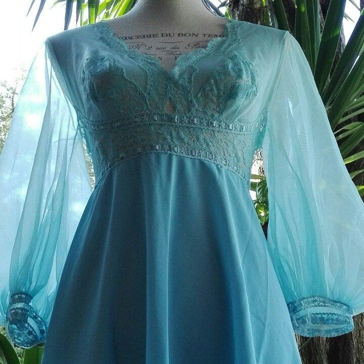 Babydoll camicia da notte azzurra shabby chic vintage cielo sky wedding SPOSA