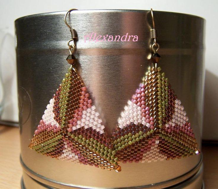 Alexandra beads peyote earrings