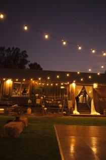 bistro lights over the dance floor- yes!