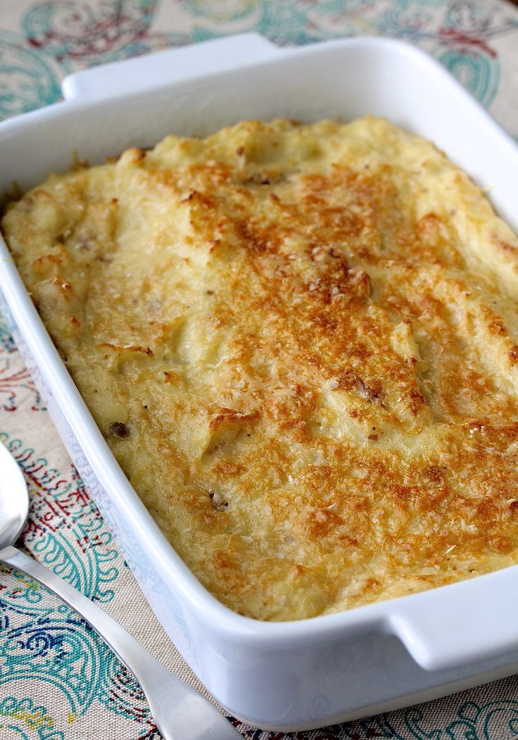 Horseradish Mashed Potatoes with Parmesan Cheese - perfect side with a beef dish or for a holiday meal