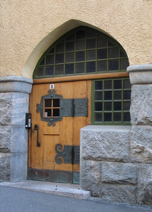 Doorway to Finnish Jugend house