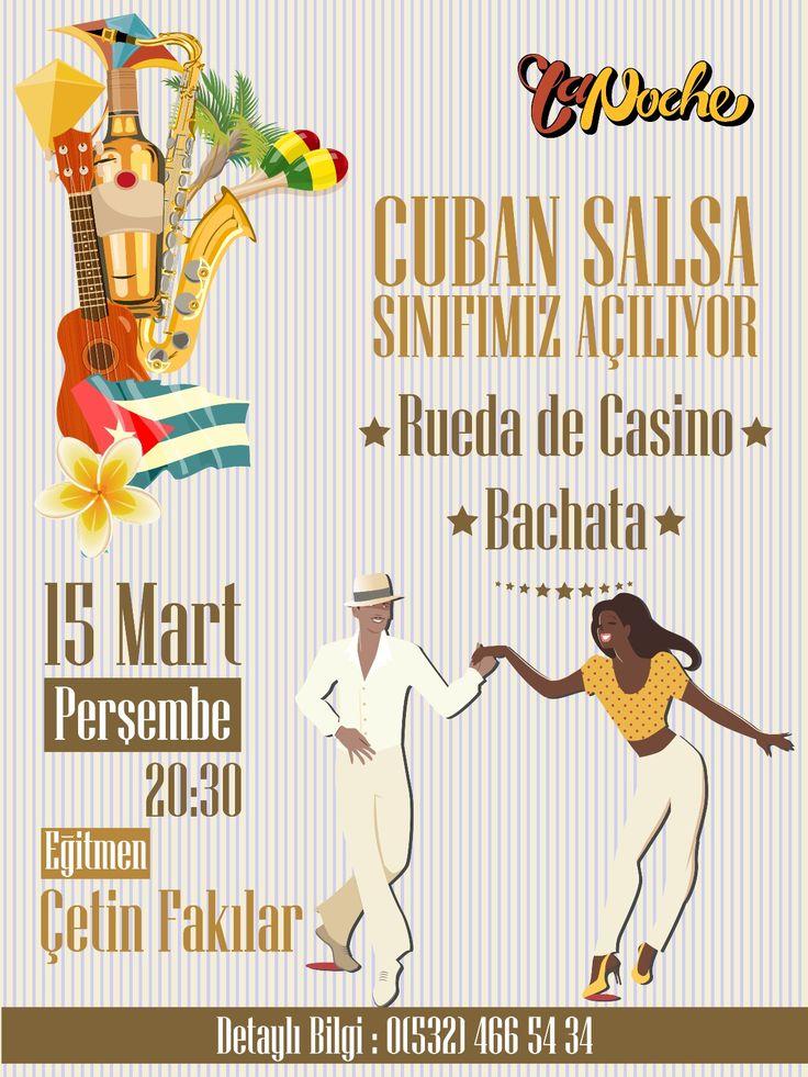 Cuban Salsa & Rueda de Casino Lesson Flyer