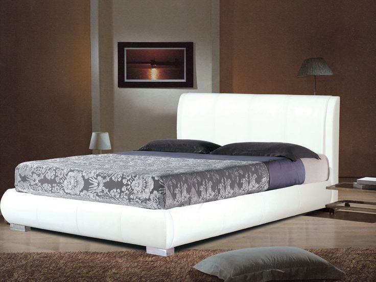 Faux Leather bed frames in black, brown, white