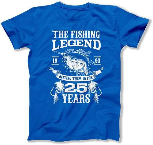 25th Birthday Gift Bday T Shirt Fishing Apparel Outdoor