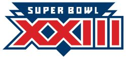 Super Bowl XXIII- Played at Joe Robbie Stadium in Miami, Florida on Jan. 22nd, 1989. It would be the re-match to Super Bowl XVI between the NFC Champion San Francisco 49ers and the AFC Champion Cincinnati Bengals. It would help set up the 1980s dynasty for the 49ers and be the last game Niners' Head Coach Bill Walsh would coach in San Francisco. The 49ers defeated the Bengals 20-16 in route to their 3rd Super Bowl title.