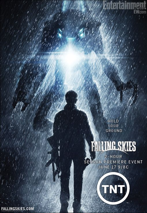 Falling Skies - Season 2. One of those shows where I find myself threatening to never watch again because of things like the main character meeting face-to-face with the head alien invader and saying he doesn't care why they're invading. Umm... what?!?