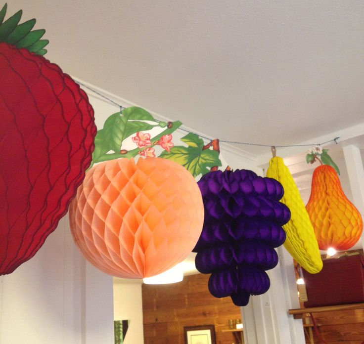 Paper Party Shop — Honeycomb Fruit Decorations