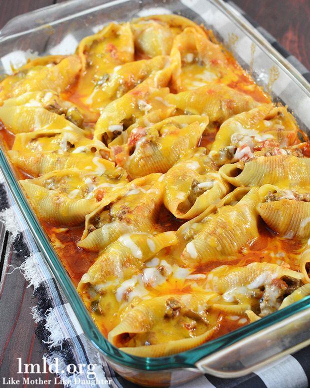 Mexican Stuffed Shells Recipe - RecipeChart.com