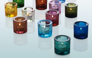 iitala candle holders. Little glass tubes of perfection.