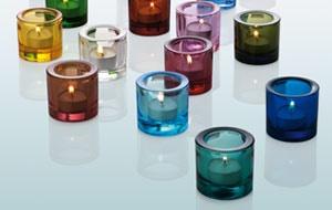 iitala candle holders. Little glass tubes of perfection.