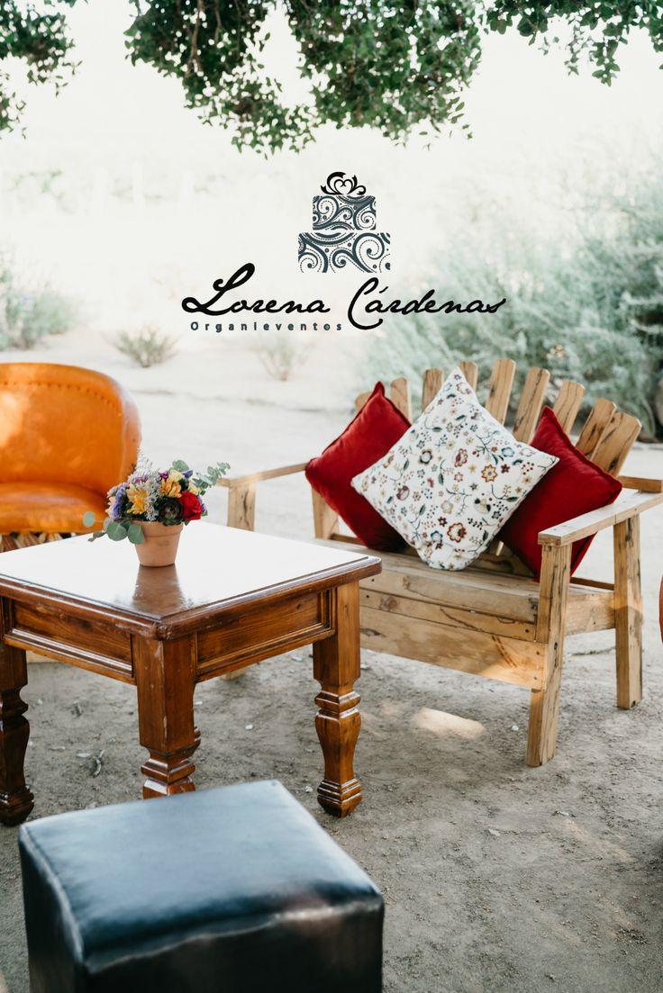 Lorena Cradenas Wedding planner  Salas lounge rustico boho  Wedding   Naturaleza  Bride
