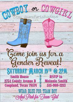 Risultati immagini per cowboy cowgirl party invitations