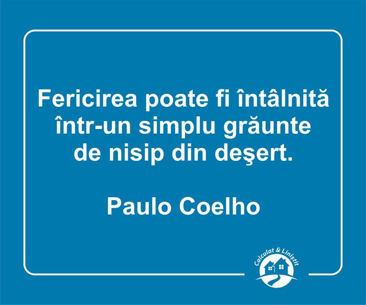 Un frumos citat al lui Paulo Coelho