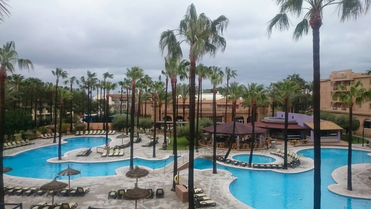 Protur Bonaire main pool. View from apartment block 4.