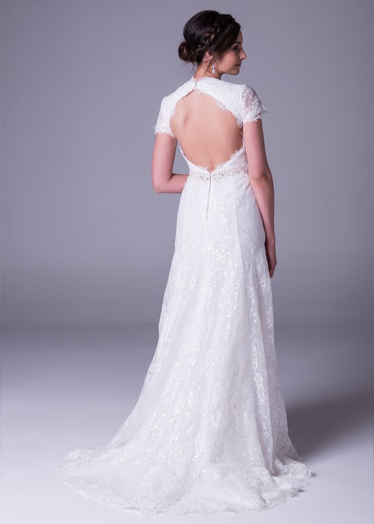 It's official. Plunging #necklines and open backs are here to stay, but in the Bride&co 2016 #newcollection, these revealing styles are soft, #feminine and discreetly #sexy. Click to shop our #new #weddingdress range in-store now! Style >> WPD17837   #love #ontrend #weddingtrends #wedding #sheer #lace #weddingdresses #bride #southafrica #johannesburg #capetown #durban #nelspruit