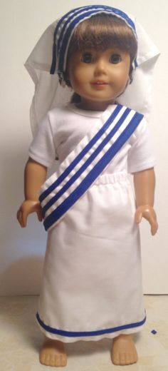 "Adorable Catholic nun outfit for 18"" dolls/ Mother Teresa Costume/ Little Saints by cutecostumesforkids on Etsy"