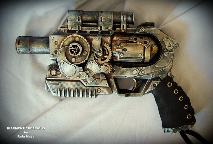 Steampunk Ray Gun by - Diarment Material - old plastic gun, recycled plastic parts, cardboard and paint
